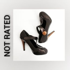 Not Rated Brown Heels Size 8